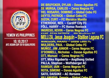 Jesus Melliza, on his journey in AFC Asian Cup UAE 2019 Qualifiers With the Philippine Squad